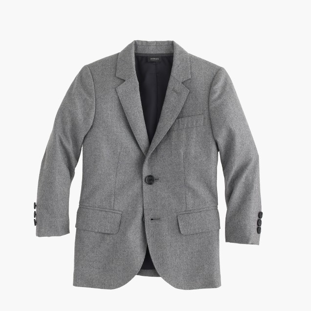 Boys' two-button sportcoat in Italian wool flannel