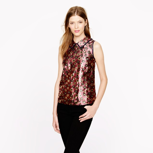 Collection metallic marigold top