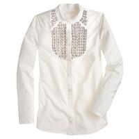 Collection jeweled tuxedo shirt