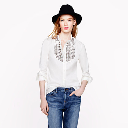 Collection jeweled tuxedo shirt