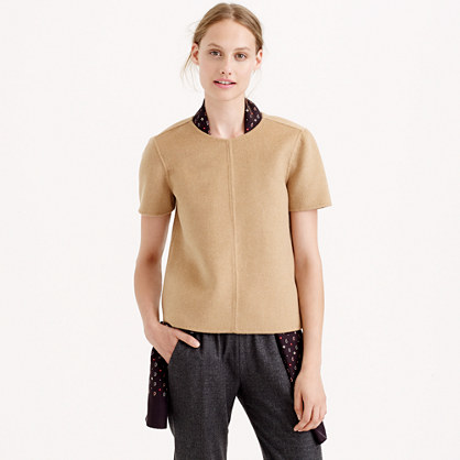 Collection double-faced cashmere T-shirt