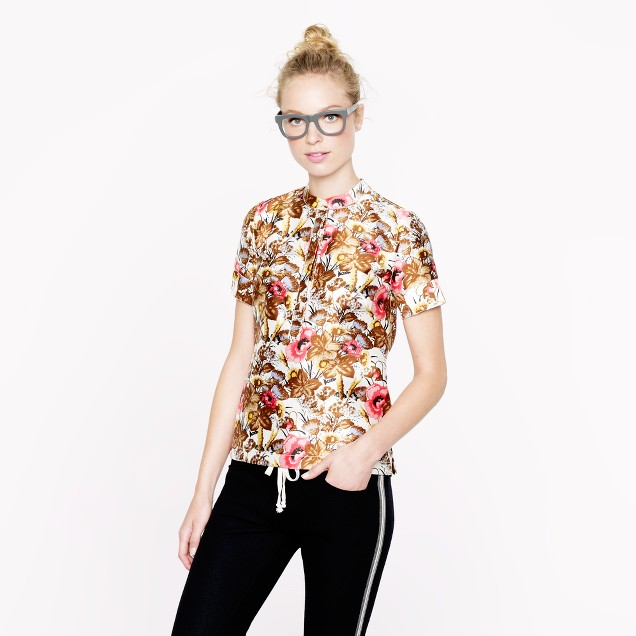 Collection antiqued floral top