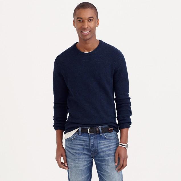Rustic merino elbow-patch sweater