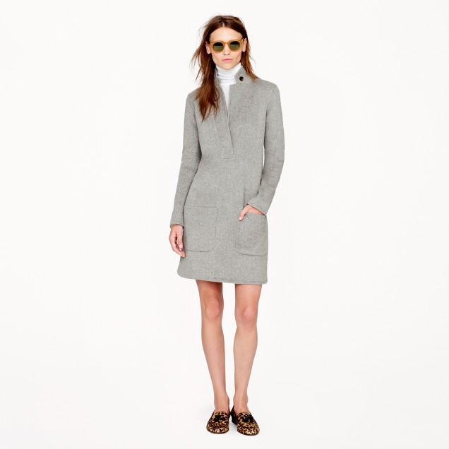 Collection double-faced cashmere dress