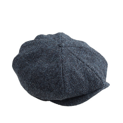 Newsboy cap in Harris Tweed wool