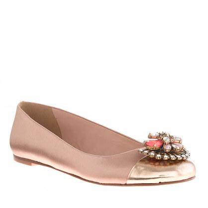 Nora jeweled cap toe ballet flats