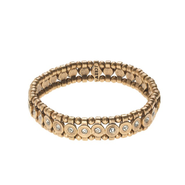 Golden stretch bracelet
