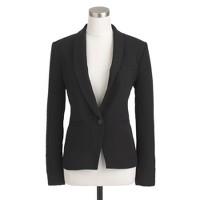 Wool shawl-collar blazer