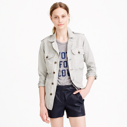 Collection leather short