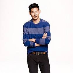 Flyweight stripe sweatshirt