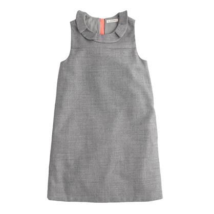 Girls' ruffle-collar shift dress
