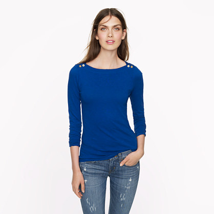 Painter button boatneck tee