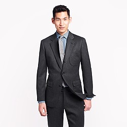 Ludlow fielding suit jacket in solid English wool