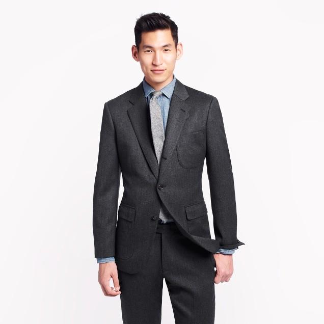 Ludlow fielding suit jacket in solid English wool
