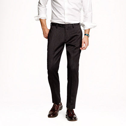 Ludlow slim suit pant in solid English wool