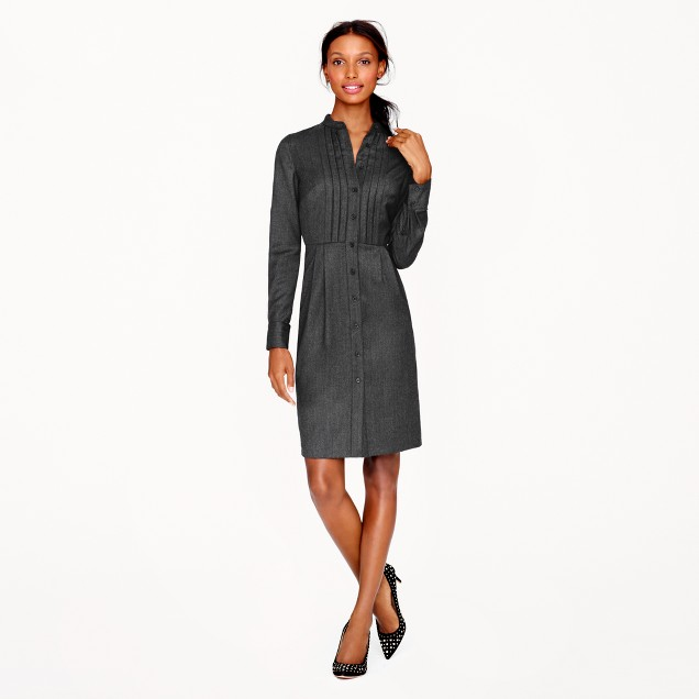 Collection wool flannel tuxedo dress
