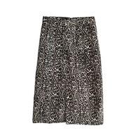 Collection printed calf hair skirt