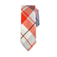 Boys' flannel tie in plaid