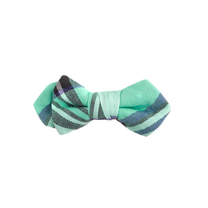 Boys' plaid flannel bow tie