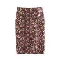 Collection pencil skirt in metallic marigold print