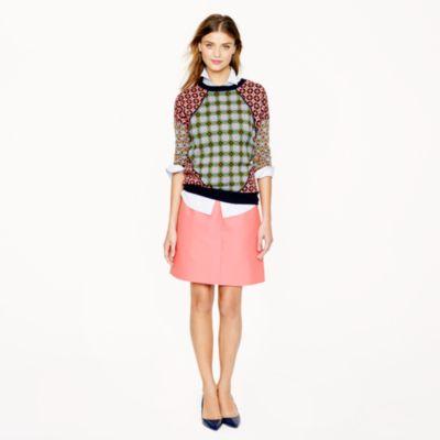 Collection wool-silk A-line skirt : Women Mini | J.Crew