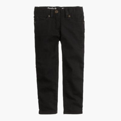 Girls' toothpick jean in black