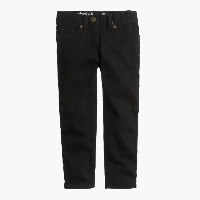 Girls' toothpick jean in black