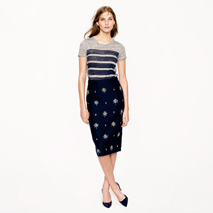 Collection embellished pencil skirt