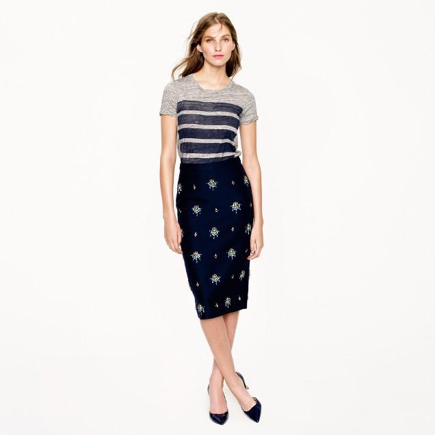 Collection embellished pencil skirt