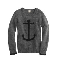 Boys' cotton anchor sweater