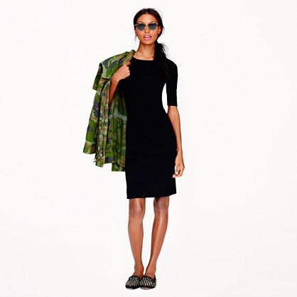 Petite paneled stretch dress