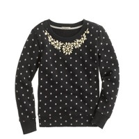 Girls' necklace sweatshirt in dot