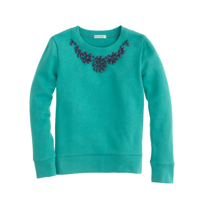 Girls' necklace sweatshirt