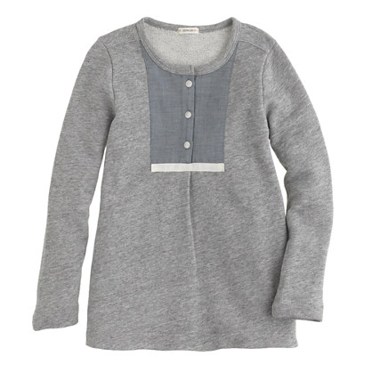 Girls' fleece tunic