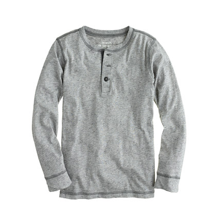 Boys' heathered jersey henley