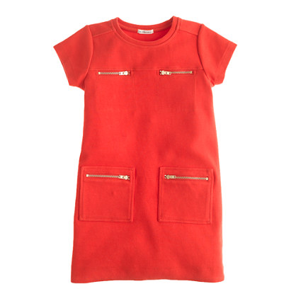 Girls' zip-pocket dress