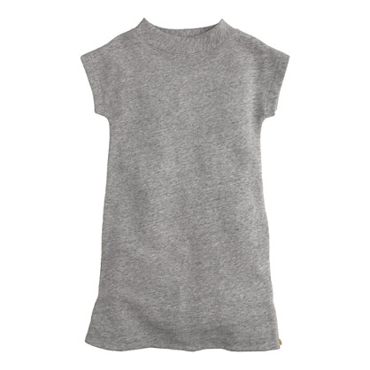 Girls' zip-hem terry dress
