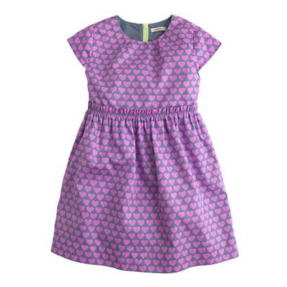 Girls' heart print dress