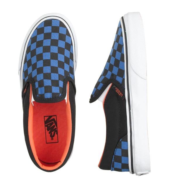Kids' Vans® checkerboard slip-on sneakers