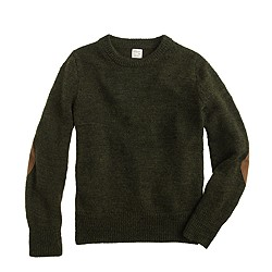 Boys' rustic merino elbow-patch sweater