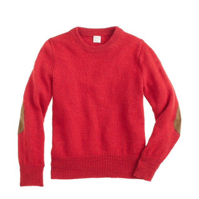 Boys' rustic merino elbow-patch sweater