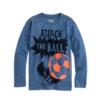 Boys' long-sleeve attack the ball tee