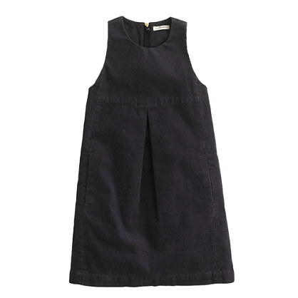Girls' cord jumper dress