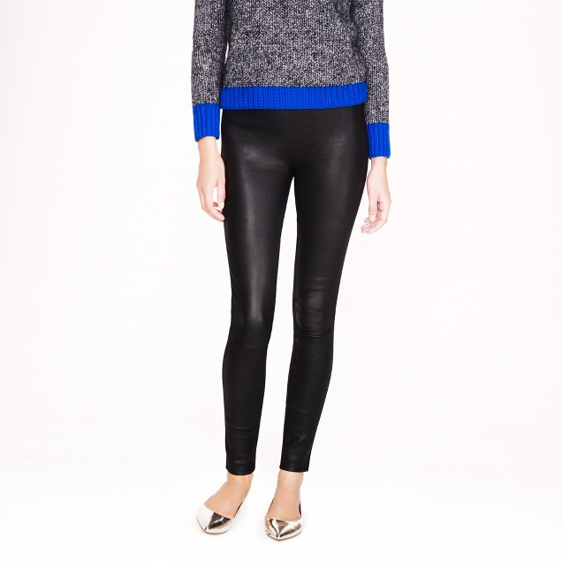 Collection leather-front Pixie pant