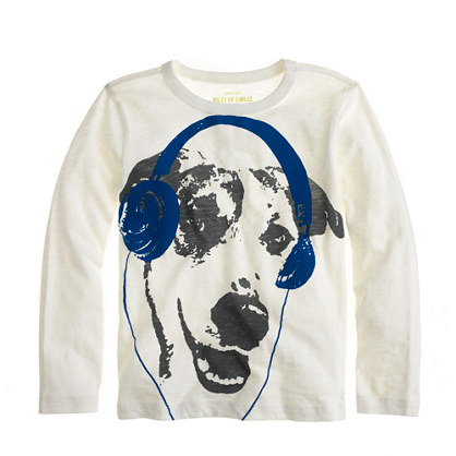 Boys' long-sleeve woofer tee