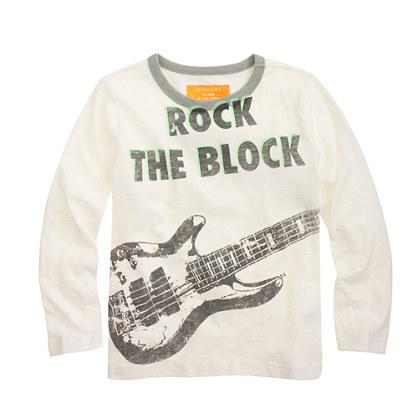 Boys' long-sleeve glow-in-the-dark rock tee