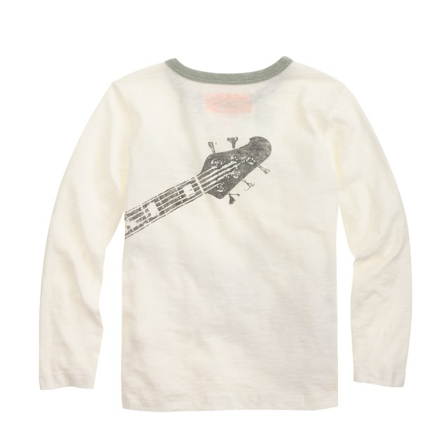 Boys' long-sleeve glow-in-the-dark rock tee