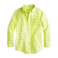 Boys' Secret Wash shirt in medium gingham
