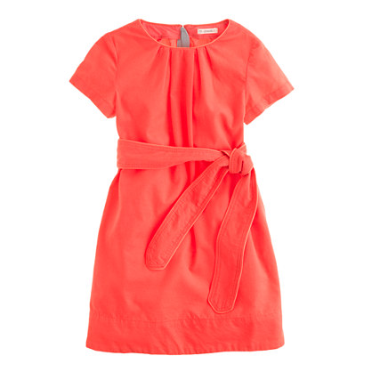Girls' refined cord dress