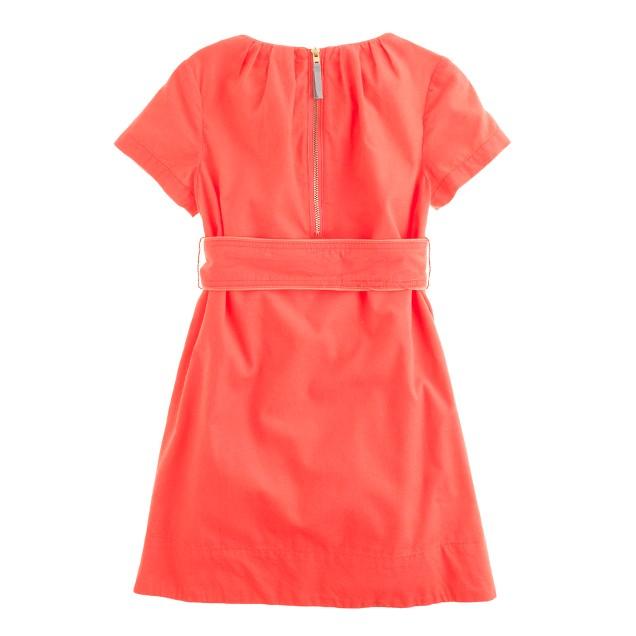 Girls' refined cord dress